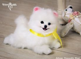 Princess (puppy white Spitz) by Flicker-Dolls