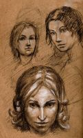 Face studies by Aranthulas