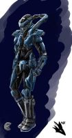 Dust 514, Caldari Katana Crusader Suit, Female by novafox