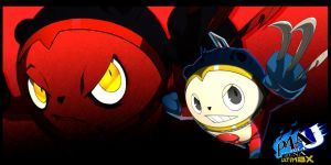 P4AU Teddie w/ Shadow Teddie Wallpaper by Theahj90