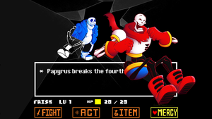 Papyrus Breaks the 4th Wall by OmegaSam7890