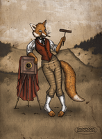 Victorian Fox by LaTaupinette
