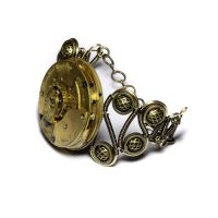 Steampunk Jewerly brass cuff by CatherinetteRings