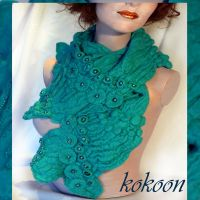 sea felted scarf by kokonok