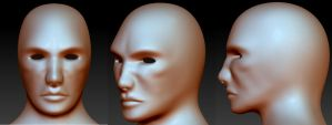 3d male face WIP by Alioli1