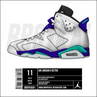 "Air Jordan 6 ""Grape"" by BBoyKai91"