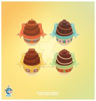 Kawaii Chocolate Easter Eggs by KawaiiUniverseStudio