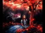 Alice in Wonderland_I've returned again, Red Tree by DZIU09
