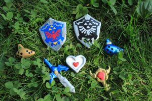 Legend of Zelda: Ocarina of Time Charms by Jadertott