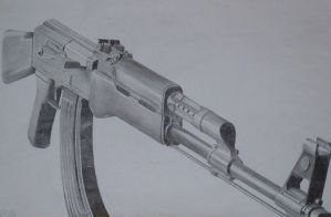 AK47 Drawing by JohnFensworth