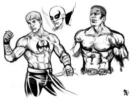 Hero For Hire Sketches 2 by RamArtwork