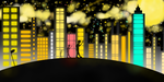 City lights at night by Rondorf