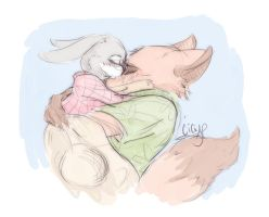 Nick and Hopps Sketch by CicisArtandStuff