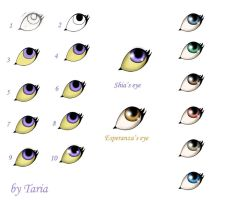 How I color eyes 10 easy steps by 9Taria6