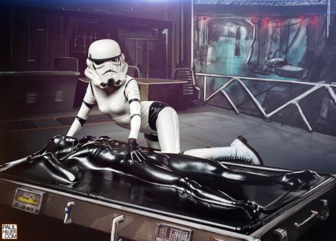 Startrooper and the carbonite vacbed by roadragebunny