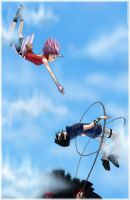 Sakura Saving Sasuke Full Size by Juhani