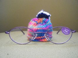 mini woolley hat in purp specs by LilMickey27