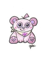 Pink Bear by ColourBUG