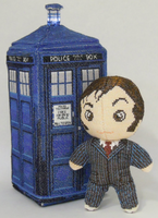 10th Doctor Who Cross Stitch Doll by rhaben