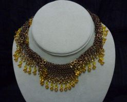 Lace - brown and gold new by AMyriadVice