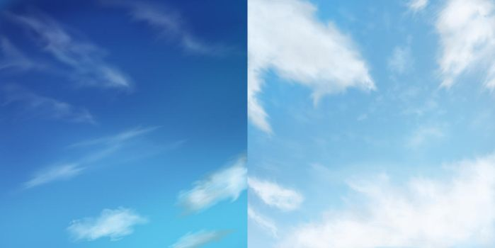 Blue sky:Digital painting 2-3/??? by AquaVarin