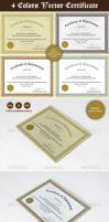 4 color Certificate Designs by nasirktk