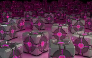Glowin Weighted Companion Cubes by Dracu-Teufel666