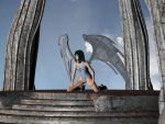 Winged Girl - royo style by inmc