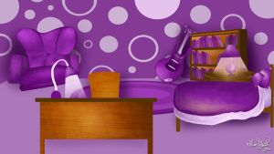 Wonky Purple Bedroom by ChangesHappen