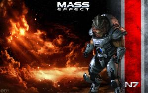 Mass Effect Grunt Wallpaper - Krogan by energy84