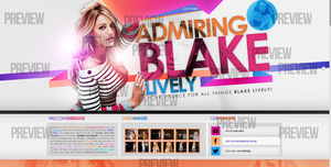 Blake Lively Layout by R21Art
