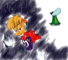 Rayman:raining,dark and light by amberday