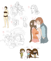 Sketchdump: Maowa and.... by JLMagian