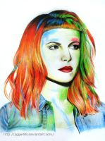 First artwork of 2014: Hayley Williams by jigger88
