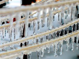 Icicles on the Clothesline by moonlightrose44