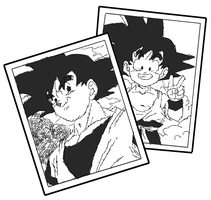 Goku young and old by xPixieSoulx