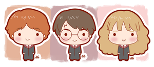 Harry - Ron - Hermione by Kelsa20