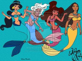 DISNEY MERMAIDS by glimpen