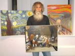 Paul Bull and some of his paintings by Booth-House-ArtGroup