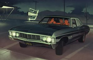 1967 Impala + Team Free Will by OzyOxy