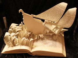 Sinbad's Ship Book Sculpture by wetcanvas
