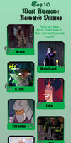 My top 10 awesome villains by Blasterwalter90