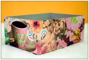 Pink Decoupaged Box by Doubtful-Della