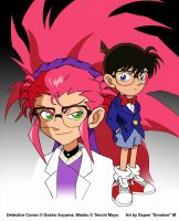 Detective Conan and Washu by emotwo