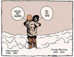 Lennon and Harrison in Heaven by LittleD3