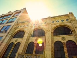 Lens Flare on a Bank by VividThorn