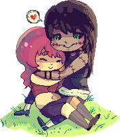 Pixel Chibi COM: Kakazu and Rose by 3o2