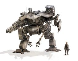 UN assault mech by flyingdebris