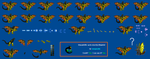 King Godzilla Sprite Sheet by zillagamer