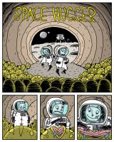 Space Hugger - Page One by deanrankine